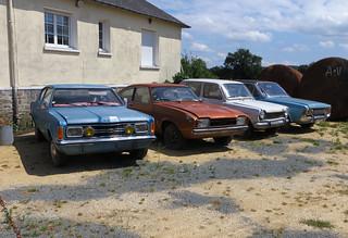 Ford Taunus x2, Capri and Simca | by Spottedlaurel
