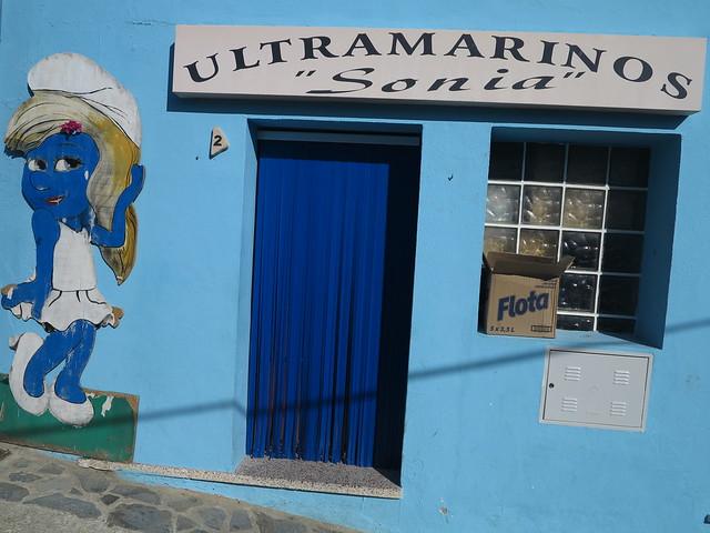 Blue Smurf Village Juzcar Schlumpfdorf Andalusien Spanien