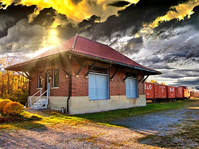 Orchard Park NY ~ Buffalo, Rochester and Pittsburgh Railway Station ~ Freight Building
