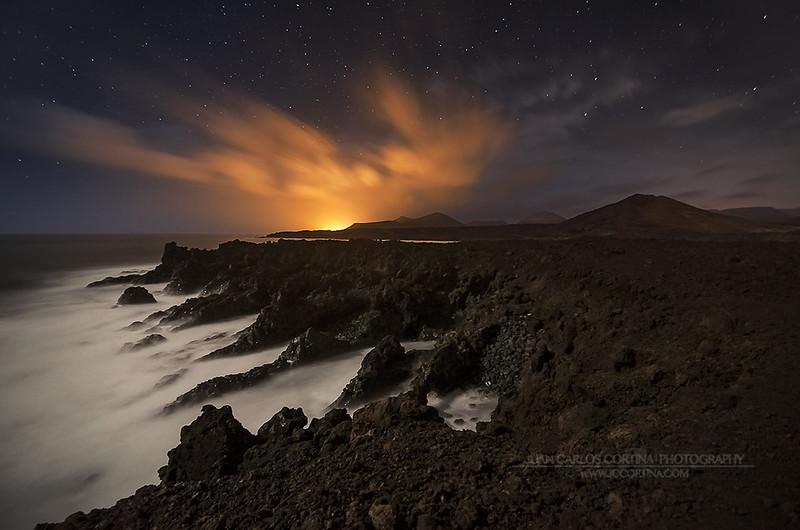 Noche en Los Hervideros de Lanzarote