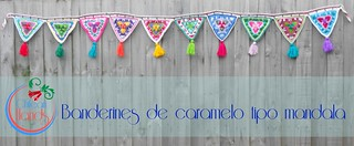 Candy mandala bunting es2 | by chileanhands