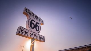 Route 66 sign - Santa Monica, Los Angeles - Travel photography | by Giuseppe Milo (www.pixael.com)