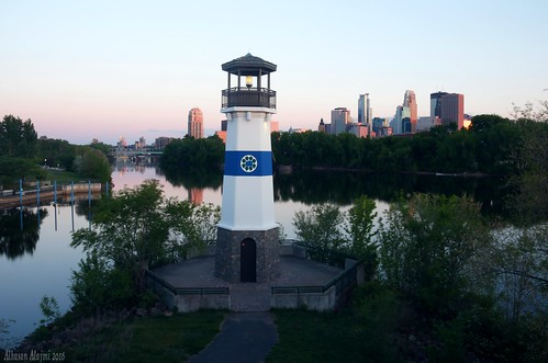 One of my favorite spots in Minneapolis. You can see the Lighthouse, Downtown Minneapolis, Mississippi River, and the beautiful sky. All are in one picture
