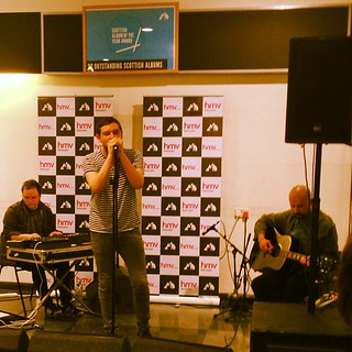 Lunchtime gigs! Love it. Twilight Sad as part of the #sayawards #glasgow #gig #music #twilightsad | by Madjock