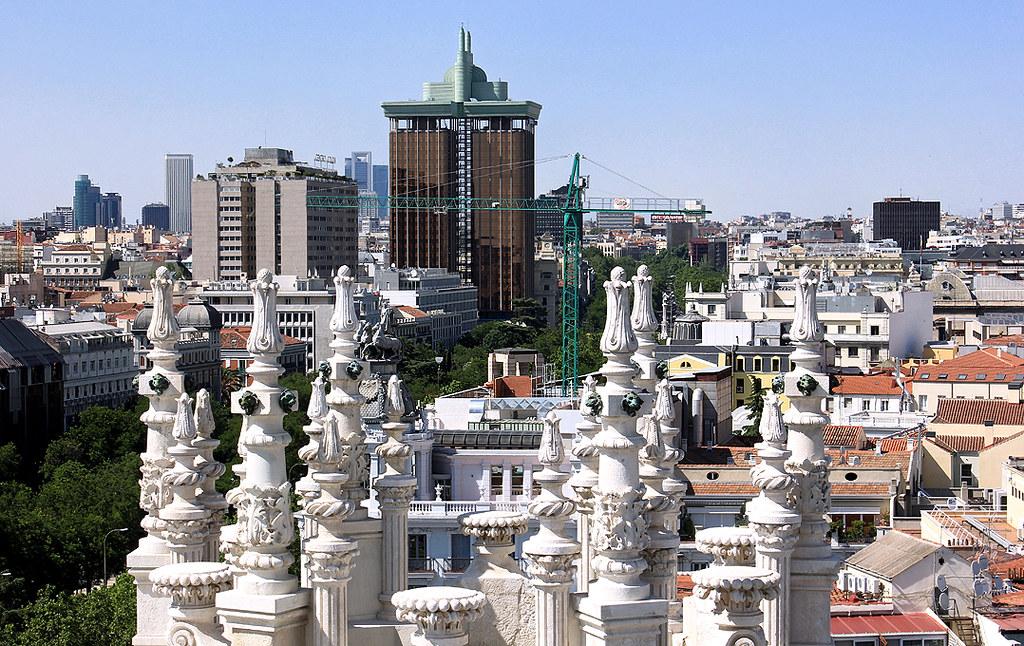 Madrid Vista Desde El Mirador De Cibeles 26 06 2013 Flickr