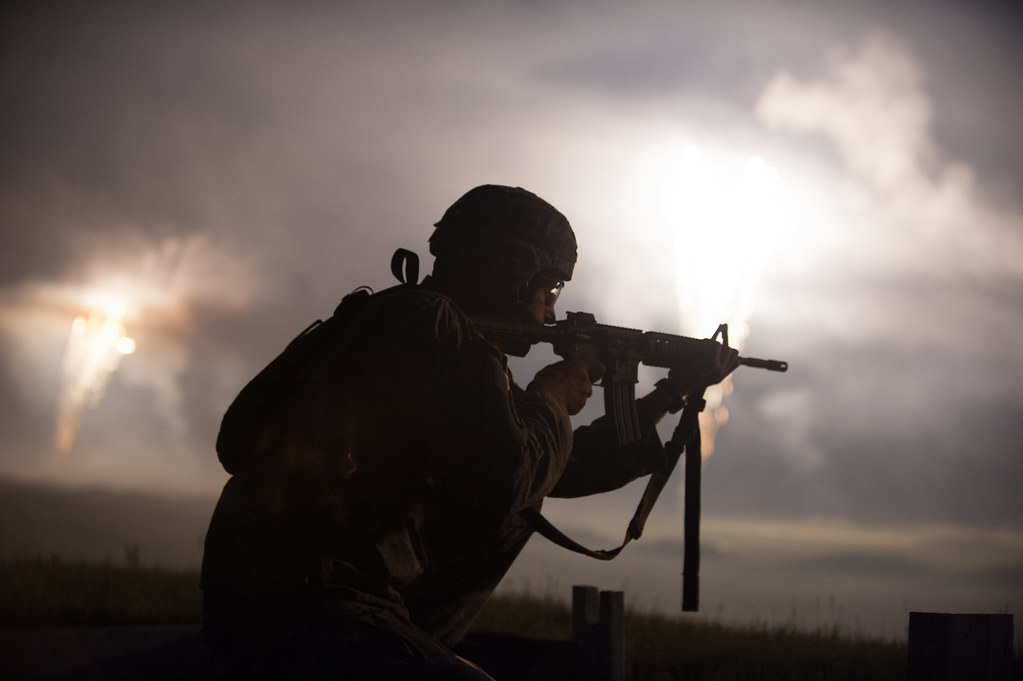 2013 US Army Reserve Best Warrior Competiton: M4 rifle nig