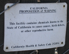 Cancer, birth defects, reproductive harm warning at PSC