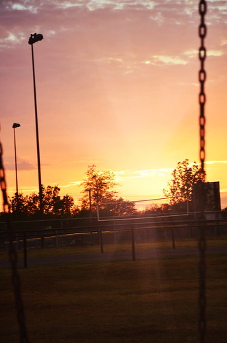 park sunset sky oklahoma sunrise landscape evening day cloudy swings