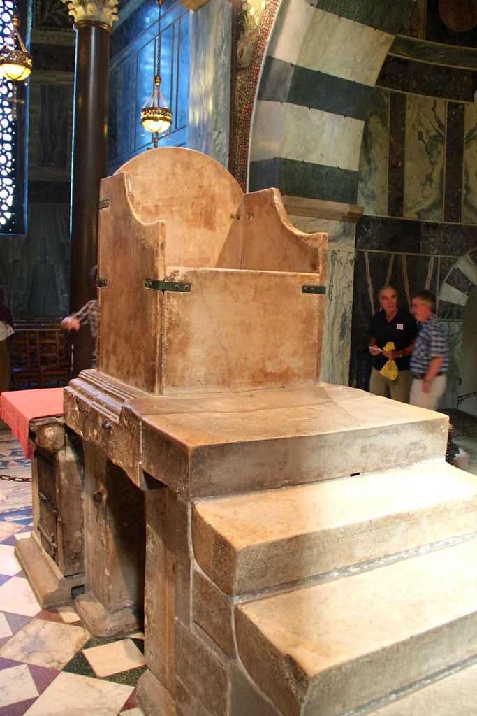 Throne of Charlemagne in Aachen Cathedral | The throne of