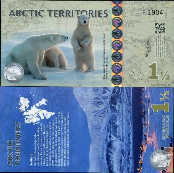1.5 Polárny dolár Arktída 2014, polymer