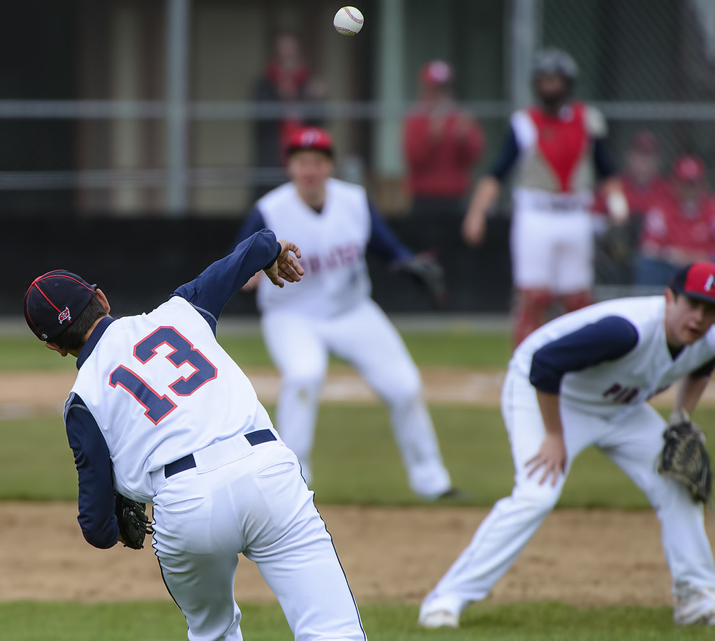 The beginnings of the play at the plate