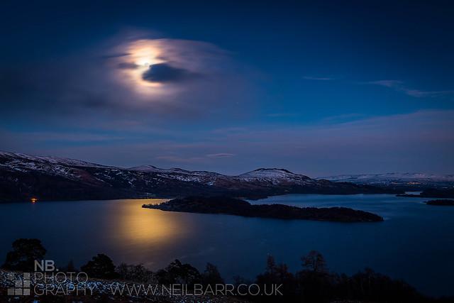 Moon over Loch Lomond