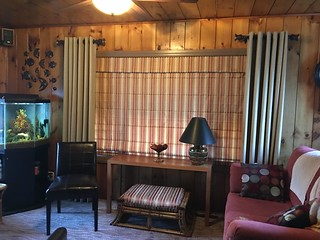 Grommet Drapes and Roman Shade