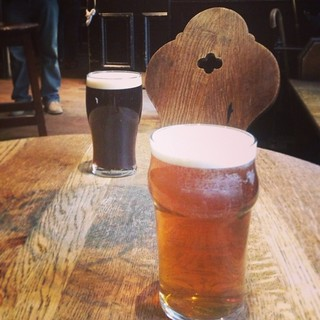 Half pints at the Guy Fawkes Inn, York   by Texarchivist