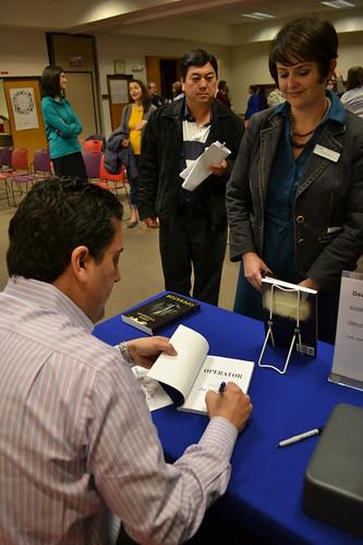 Author David Vinjamuri visits OPL