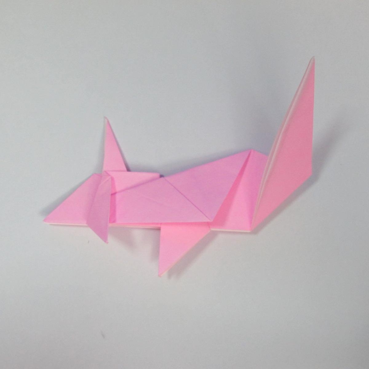 สอนการพับกระดาษเป็นลูกสุนัขชเนาเซอร์ (Origami Schnauzer Puppy) 058