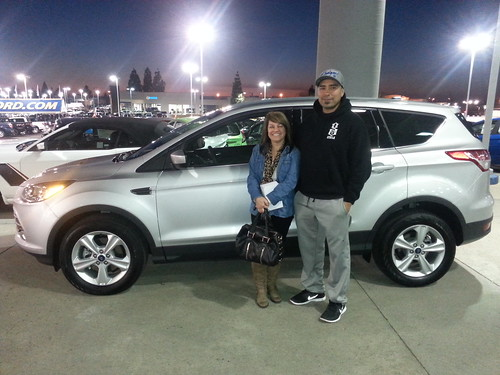 A new 2014 Ford Escape for Kim and Danny Yanez of Folsom, CA from Future Ford of Roseville. Thank you!! Photo