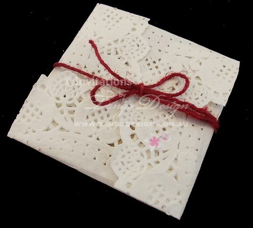 paper-lace-parcel-wrap-jute | by Wedding invitations & wedding stationery