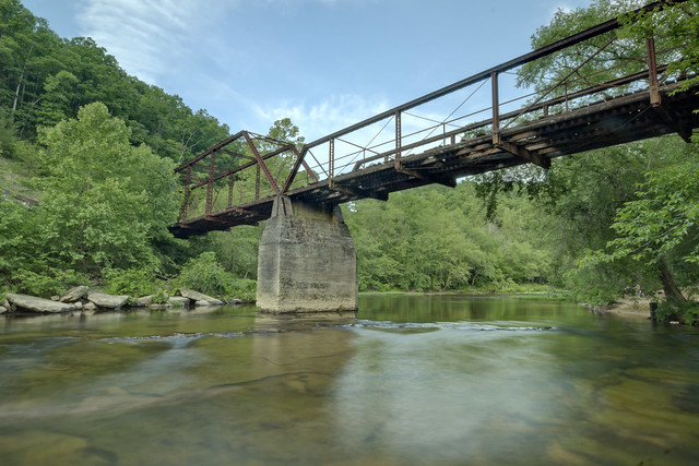 Burnt Mill Bridge, Clear Fork, Big South Fork NRRA, Scott County, Tennessee
