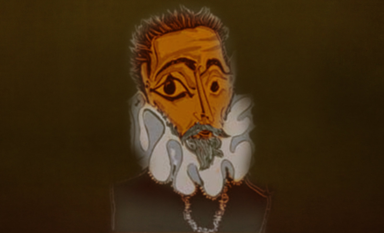 Hidalgo Ibérico, expresión de Doménikus Theokópoulos el Greco (1597), transcripción de Pablo Picasso (1971).