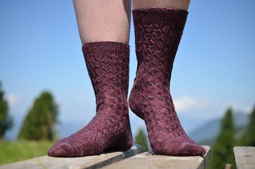 Ühltjes Second Sock in Shell Pattern