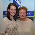 Sixth class teacher Jacqueline Kelly with Anne