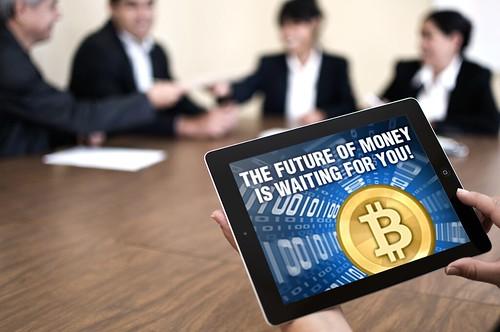 Bitcoin, business, tablet, boardroom, ipad
