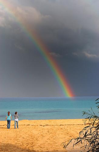 rainbow colori arcobaleno spiaggia sabbia orrì tortolì