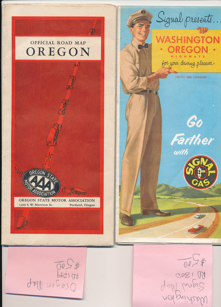 Washington and Oregon Maps