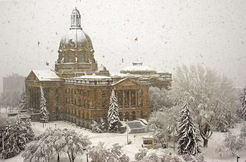 albertalegislature legislativegrounds edmonton springsnowfall canada alberta winterscene architecture snow