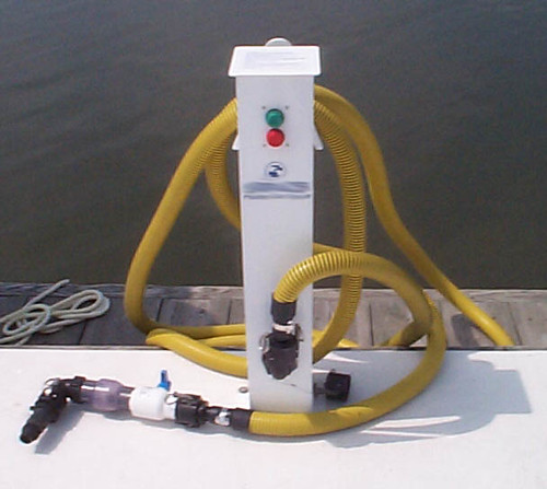 Photo of a pumpout station at a marina