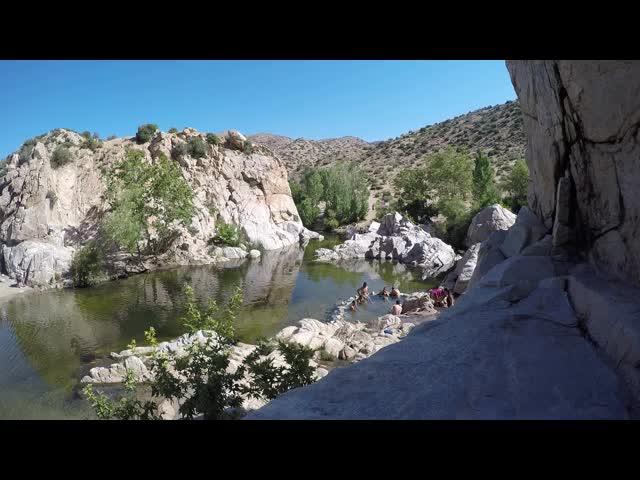 1260 Panorama video at Deep Creek Hot Springs
