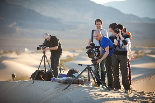 Manfrotto Be Free Tripod ad shoot BTS - Death Valley Mesquite Sand Dunes | by The Bui Brothers