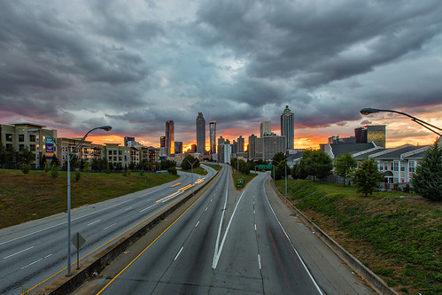 bridge atlanta sunset urban storm building skyline clouds buildings project landscape grey colorful downtown skies cityscape skyscrapers traffic cloudy gray 365 jacksonstreetbridge jacksonstreet project365 projectweather