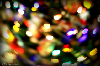 Abstract in Christmas lights | by Thad Zajdowicz