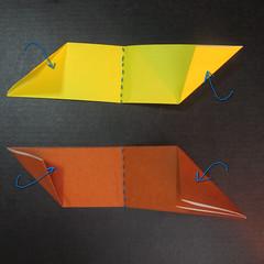 สอนวิธีพับกระดาษเป็นดาวกระจายนินจา (Shuriken Origami) - 004