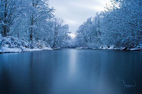 longexposure trees snow water creek canon river landscape stream deschutes washingtonstate softwater t4i bigstopper 1riverat matthewreichel
