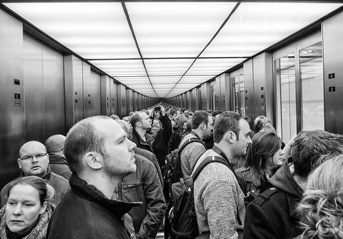 self in the elevator | by Georgie Pauwels