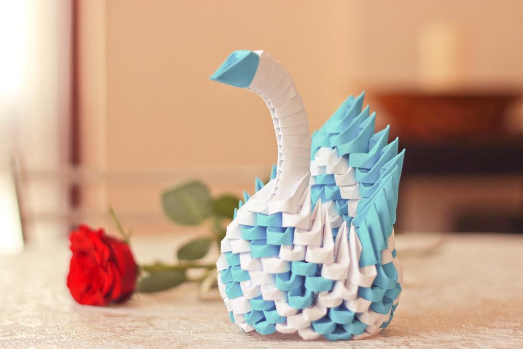 Heart Pattern Swan Origami 3d | Samuel Ferreira | Flickr | 683x1024