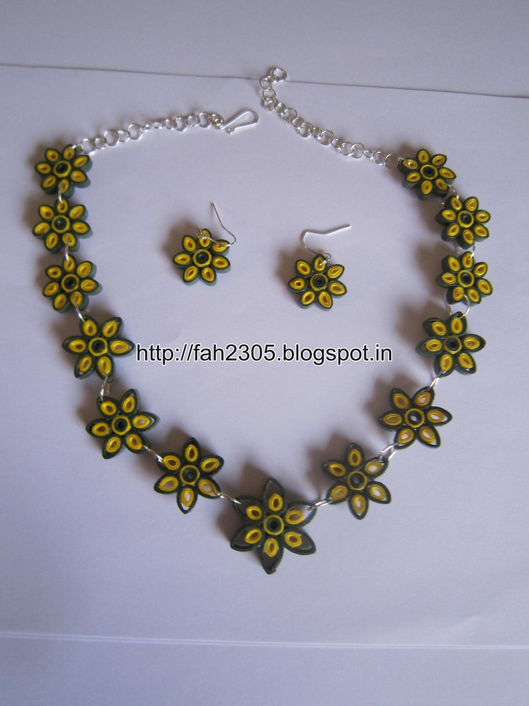 fcbcf848c2027 Handmade Jewelry - Paper Quilling Flower Jewelry Set (FAH0… | Flickr