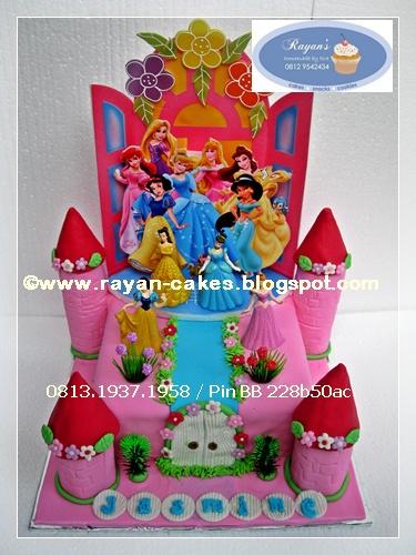 Princess Disney Birthday Castle Cake Kue Ulangtahun Anak