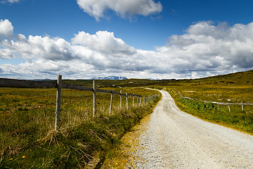 road trip travel blue summer vacation sky mountain grass fence skies line