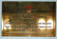 killed in action at the Dardanelles