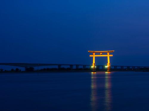 sunset japan slowshutter bluehour shizuoka hamamatsu 浜松 bentenjima 弁天島 静岡県 ootorii