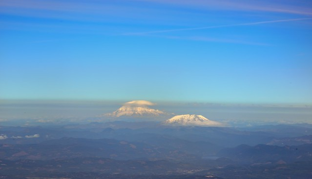 Mount Rainier and St. Helens...off in the Distance
