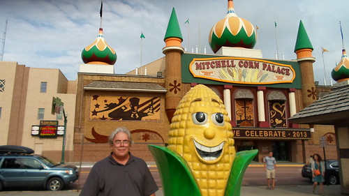 Mitchell Corn Palace, The Entire Marquee is made of Colored Corn.  Mitchell South Dakota, 7-2013