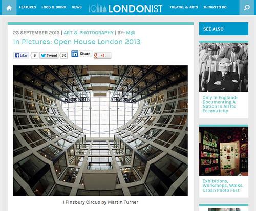 Londonist website - September 2013