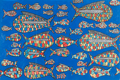 "Rainbow Fish (16"" x 24"" acrylic on canvas)"