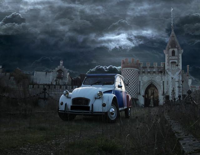 1986 Citroën 2 CV Cocorico - 3 janvier 2014 (Château du Temple - Theneuil)