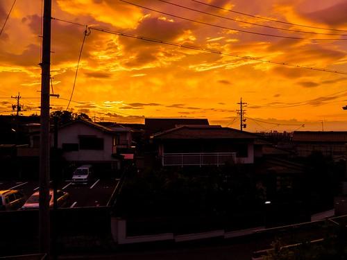 sunset june japan clouds nagoya fujifilm aichi 2012 x10